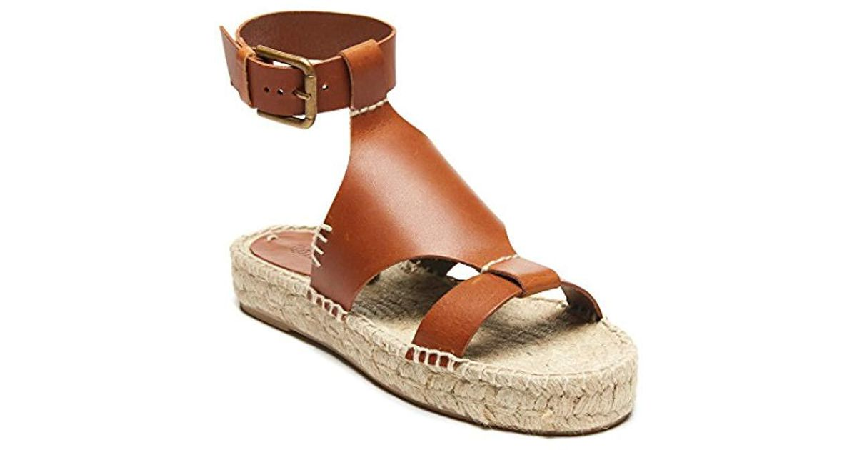 130ff081557 Lyst - Soludos Banded Shield Open Toe Espadrille Wedge Sandal in Brown