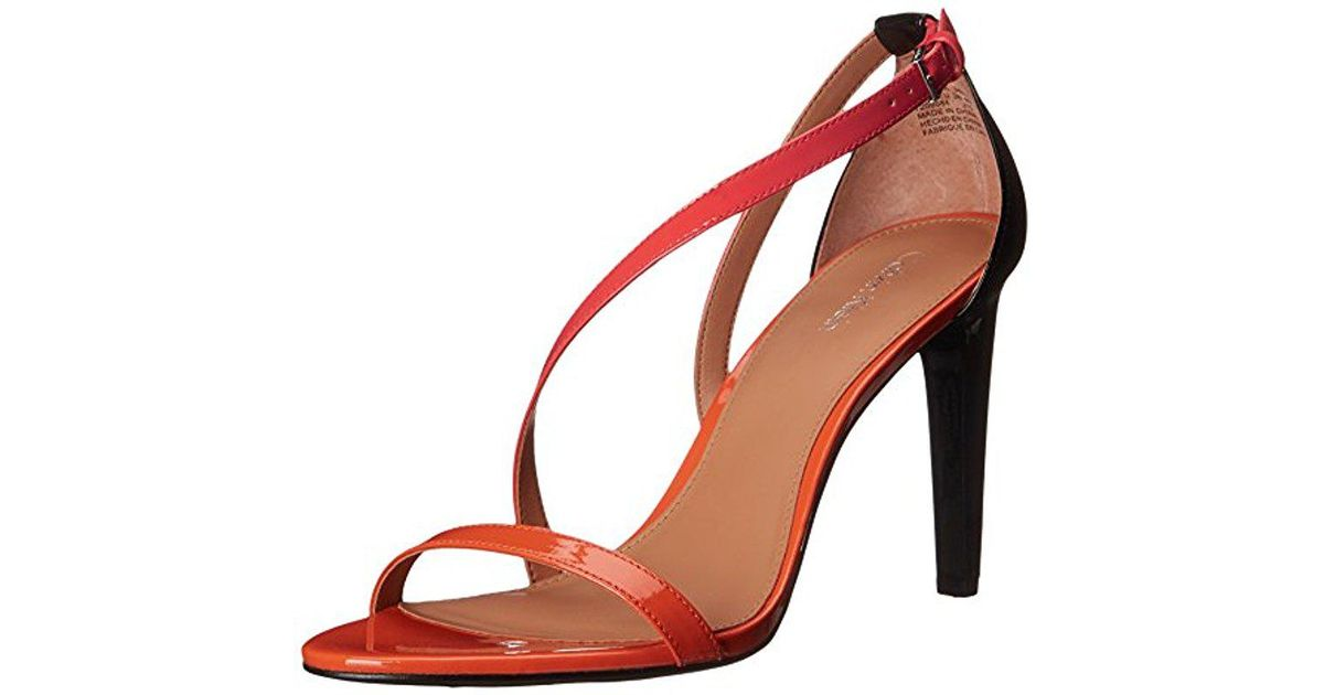6f4a542ba5e Lyst - Calvin Klein Narella Dress Sandal