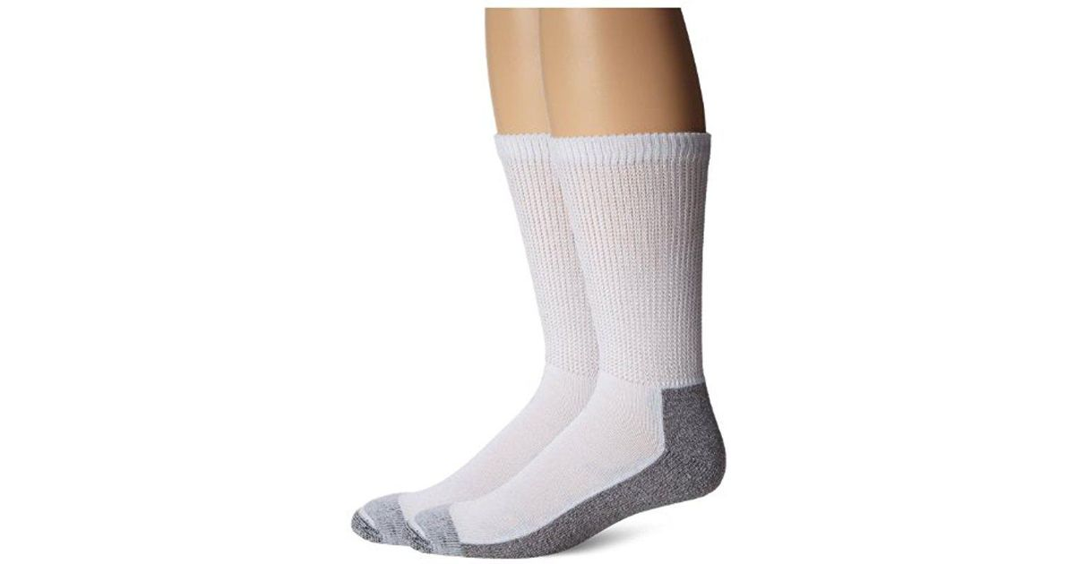 ed737556b Lyst - Dickies Steel Toe Non-binding Crew Socks ( 2 Pack) in Gray for Men