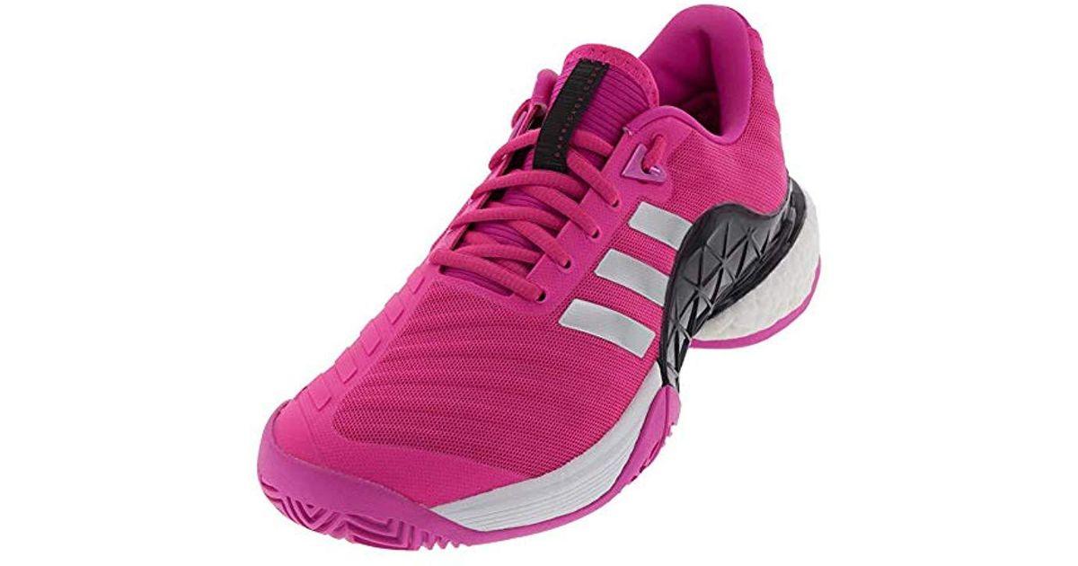 Adidas Pink Barricade 2018 Tennis Shoe for men