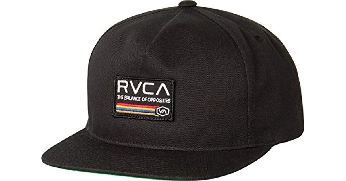 Lyst - RVCA Mechanic Ii Trucker Hat in Black for Men f4922a956b6