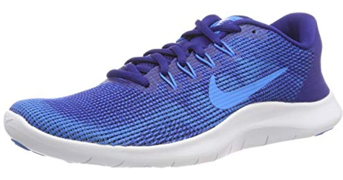 ac2b2777636fa Nike Herren Laufschuh Flex Run 2018 Competition Shoes in Blue for Men - Lyst