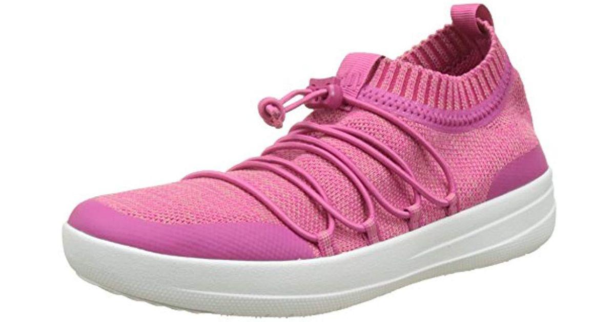 54c1761dc Fitflop Uberknit Slip-on Ghillie Sneakers Slip On Trainers in Pink - Save  38% - Lyst