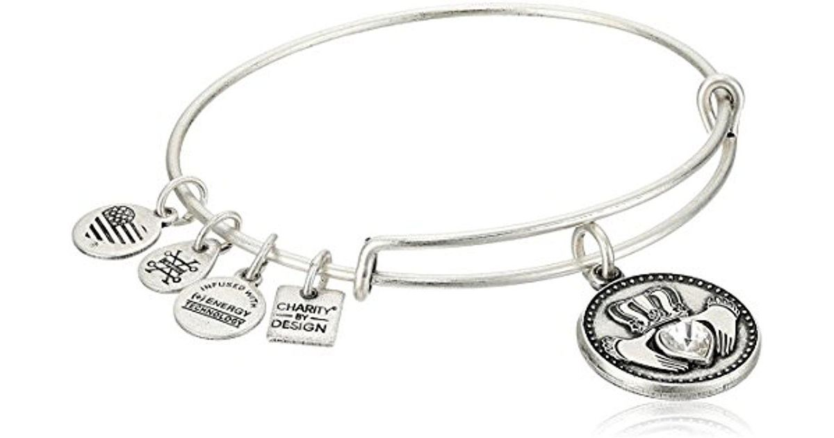 Lyst Alex And Ani Charity By Design Claddagh Bangle Bracelet In Metallic