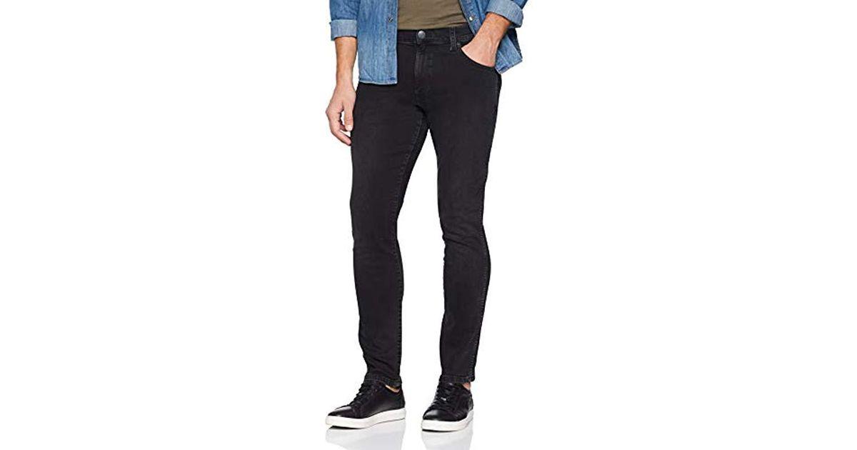 WRANGLER larston Slim Tapered Pantaloni Jeans Uomo Denim Pantaloni Uomo Nero sale