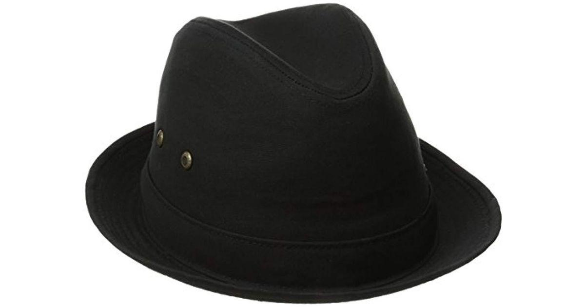 996b1b19ea434 Lyst - Stetson Fedora Linen Hat in Black for Men - Save 2.439024390243901%
