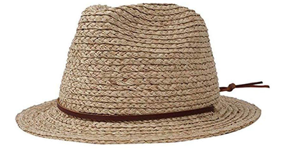 ec390934044f9 Lyst - Brixton Levon Short Brim Straw Fedora Hat for Men - Save 56%