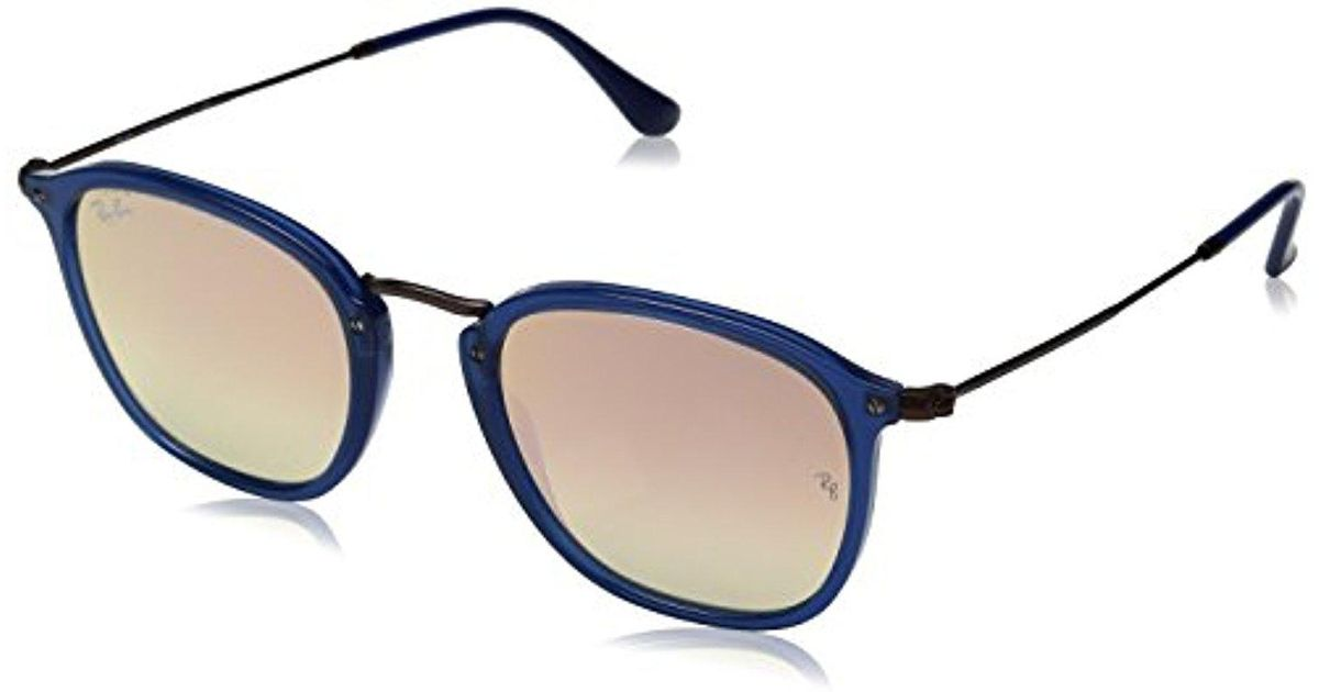 5f3002530f174 Lyst - Ray-Ban Unisex-adult Injected Unisex Sunglass 0rb2448n Square  Sunglasses in Blue
