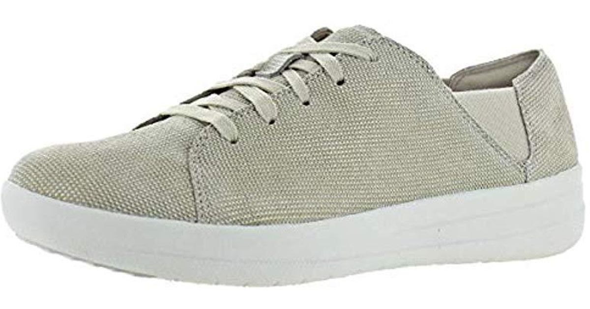 Fitflop Natural F sporty Lace up Houndstooth Print Fashion Sneaker