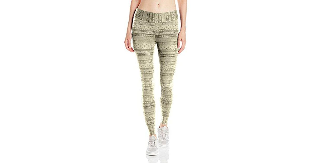 4a21684bb5a3be Columbia Aspen Lodge Jacquard Legging in Green - Save 4% - Lyst