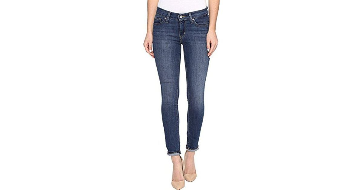 feb6717566ab Lyst - Levi s 711 Skinny Ankle Jean in Blue