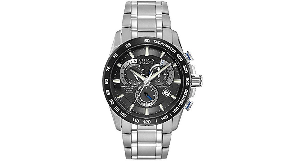 c76c6588fda Lyst - Citizen Eco-drive Titanium Perpetual Chrono Atomic Timekeeping Watch  With Date