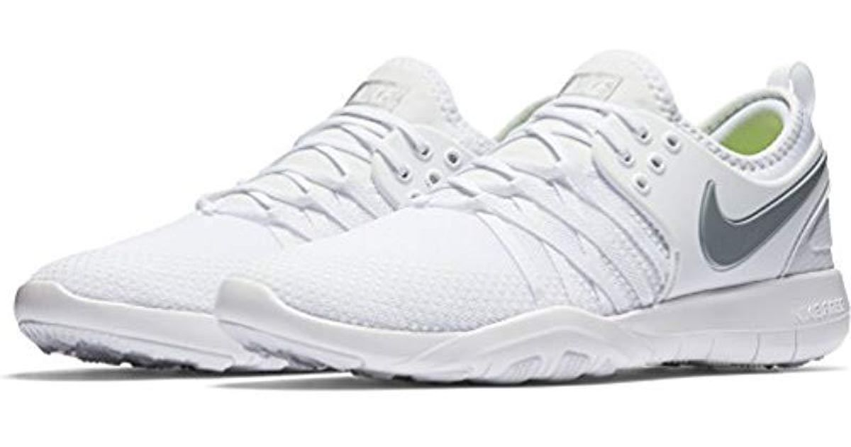 b0fc06b9a85f ... sale nike s wmns free tr 7 trainers in white lyst 048c1 36c29