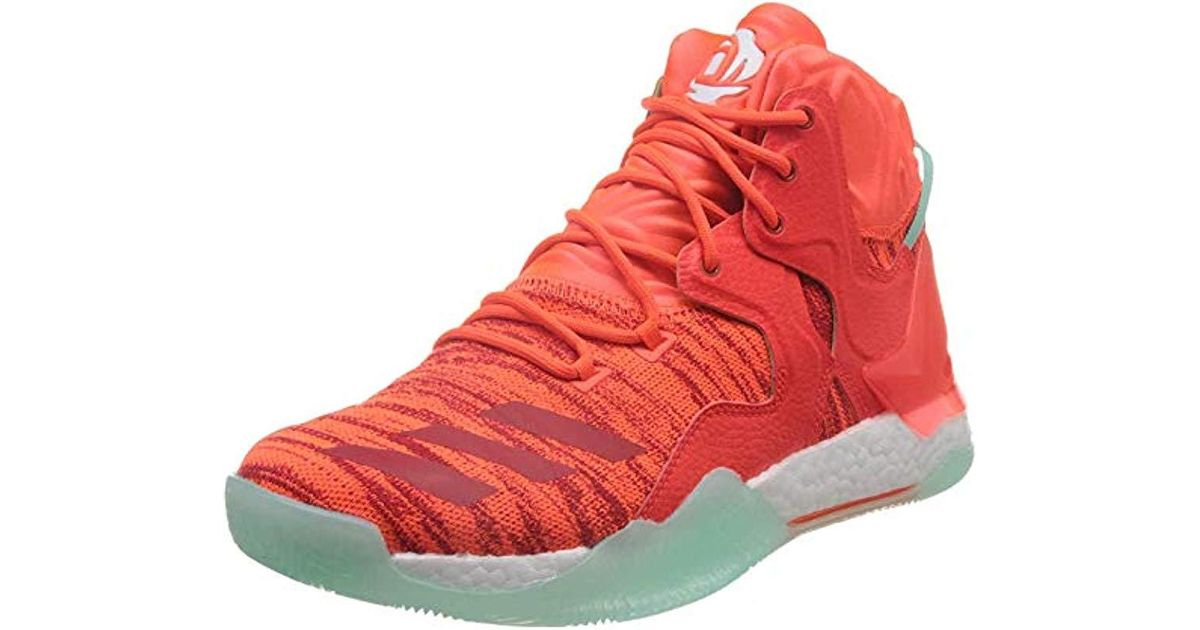 adidas Mens D Rose 773 4 Basketball Shoe Red Breathable Lightweight Trainers