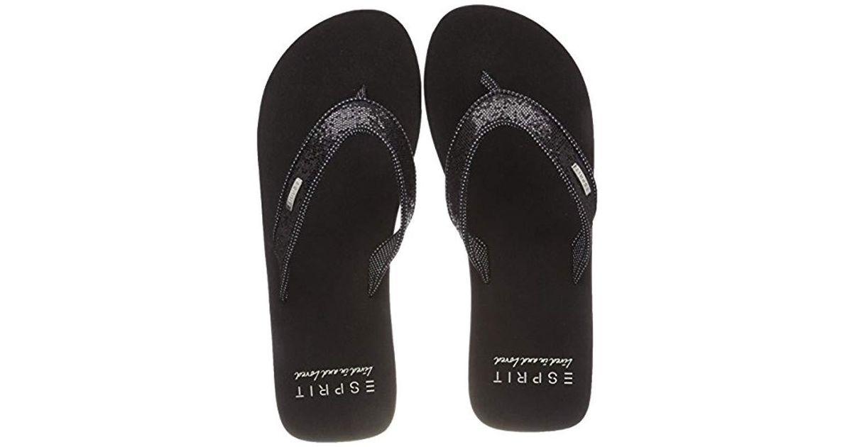 new style 5b46f 63966 esprit-Black-Black-001-Glitter-Thongs-Mules.jpeg