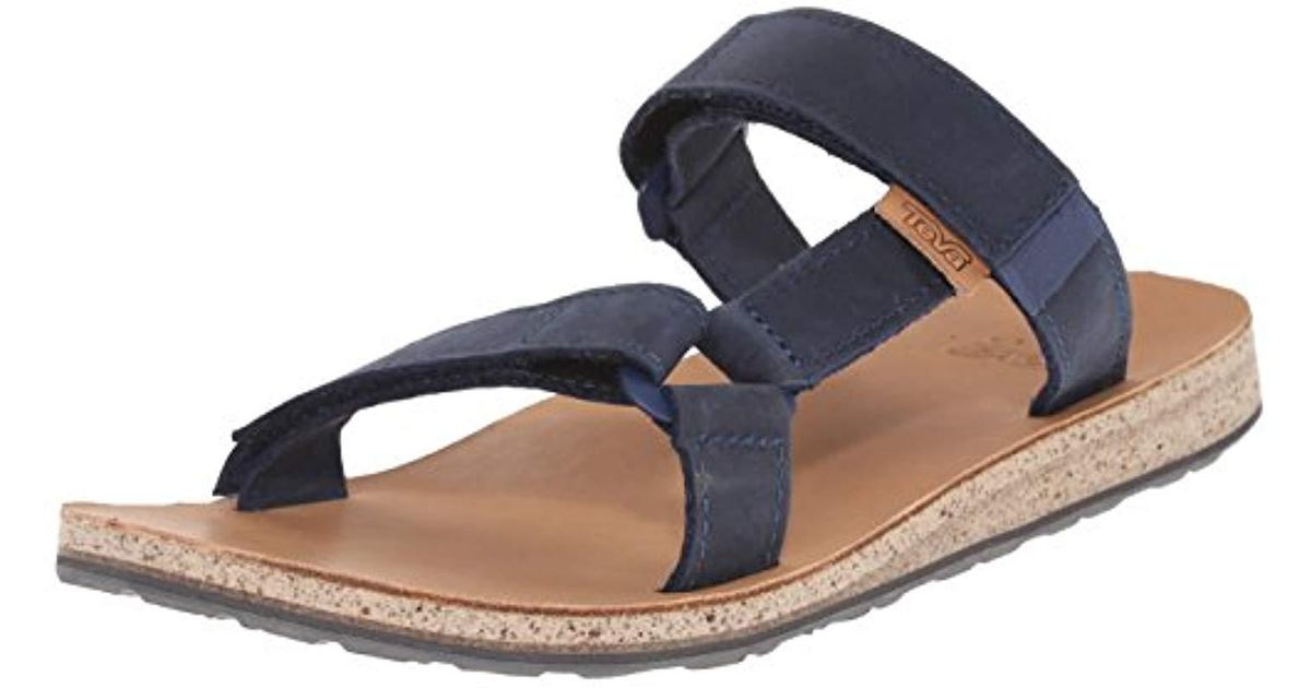 943b3dcd569 Teva Original Universal Slide Leather Sports And Outdoor Lifestyle Sandal  in Blue for Men - Lyst