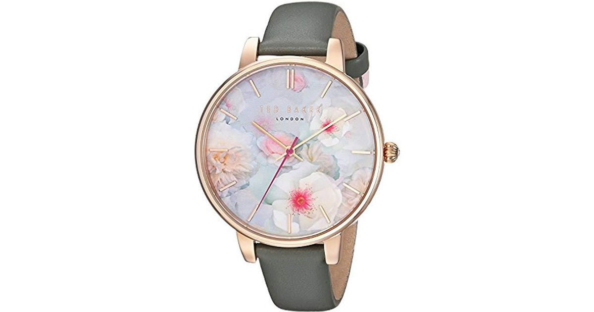 750445cf4d93d Lyst - Ted Baker  kate  Quartz Stainless Steel And Leather Casual Watch