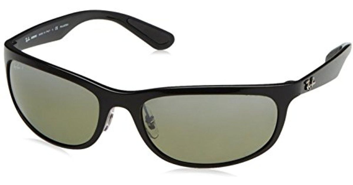 1fec63280e773 Lyst - Ray-Ban Rb4265 Chromance Lens Wrap Sunglasses
