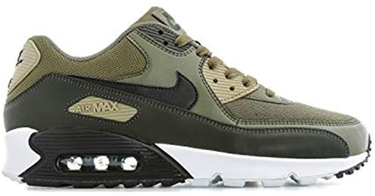 buy popular 22a88 0ca98 Nike Air Max 90 Essential Fitness Shoes, Multicolour (medium  Black/sequoia/neutral Olive 201), 9 Uk 9 Uk for men
