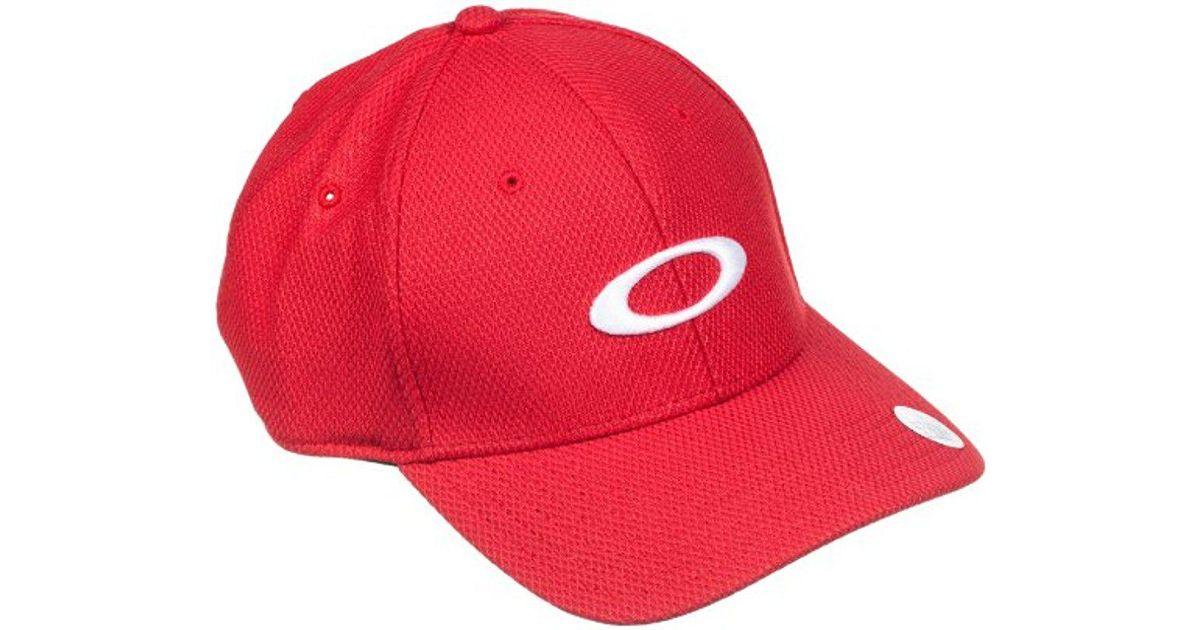 8d92cd75 ... greece lyst oakley golf ellipse hat in red for men d26b0 fd9f4