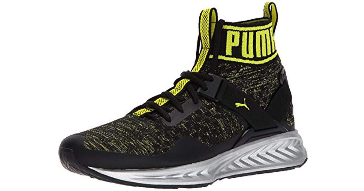 PUMA Ignite Evoknit Nc Sneaker in Black
