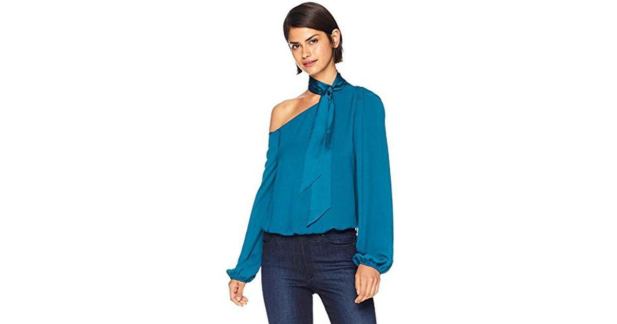5b723922c4a79 Lyst - Ramy Brook Seneca Tie Neck Top in Blue - Save 70%