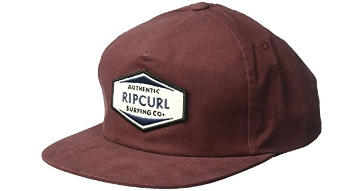 1583f12a2 Rip Curl Purple Station Snapback for men