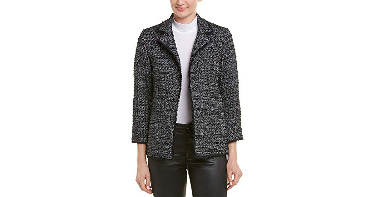 fd0b45661 Cupcakes And Cashmere Black Gregory Tweed Blazer