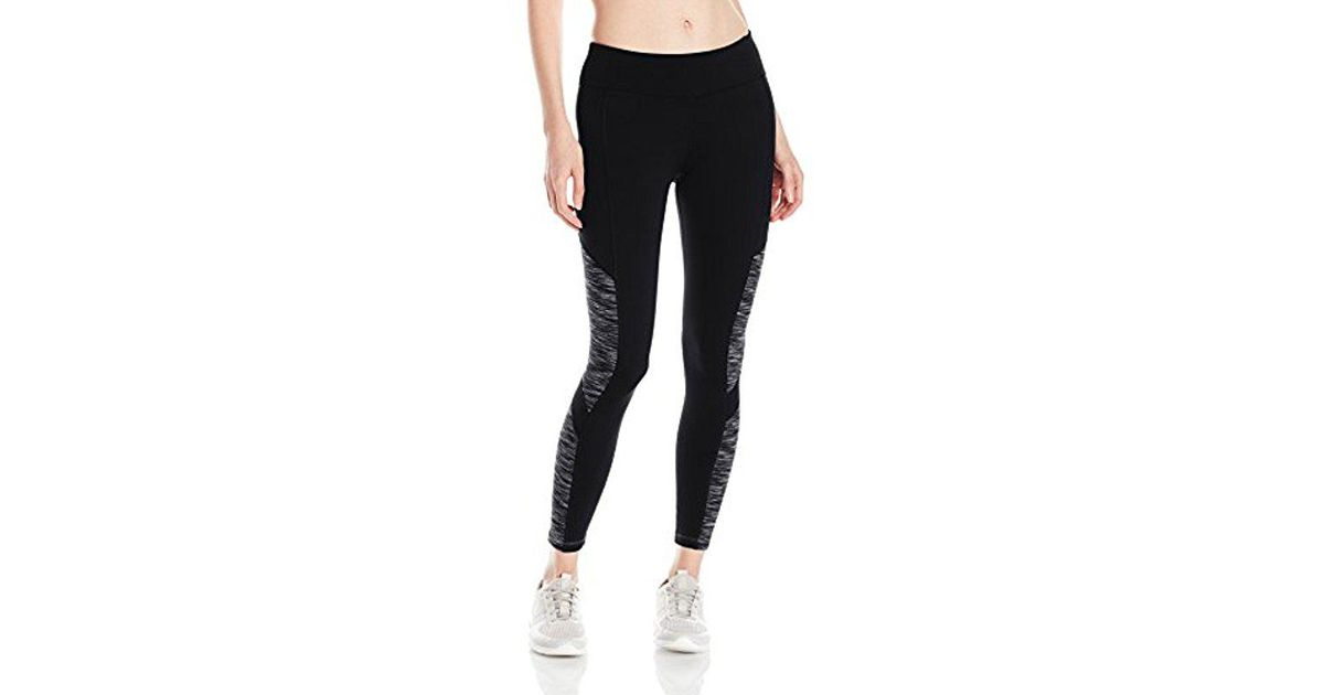 157d685d2c Lyst - Calvin Klein Performance Tech Fleece Color Block Legging in Black
