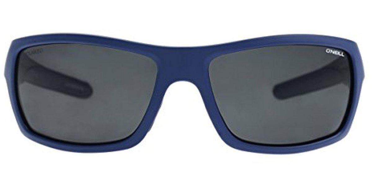 ONeill ZEPOL-204P-62 Wrap Men's Black Frame Grey Lens Polarized Sunglasses