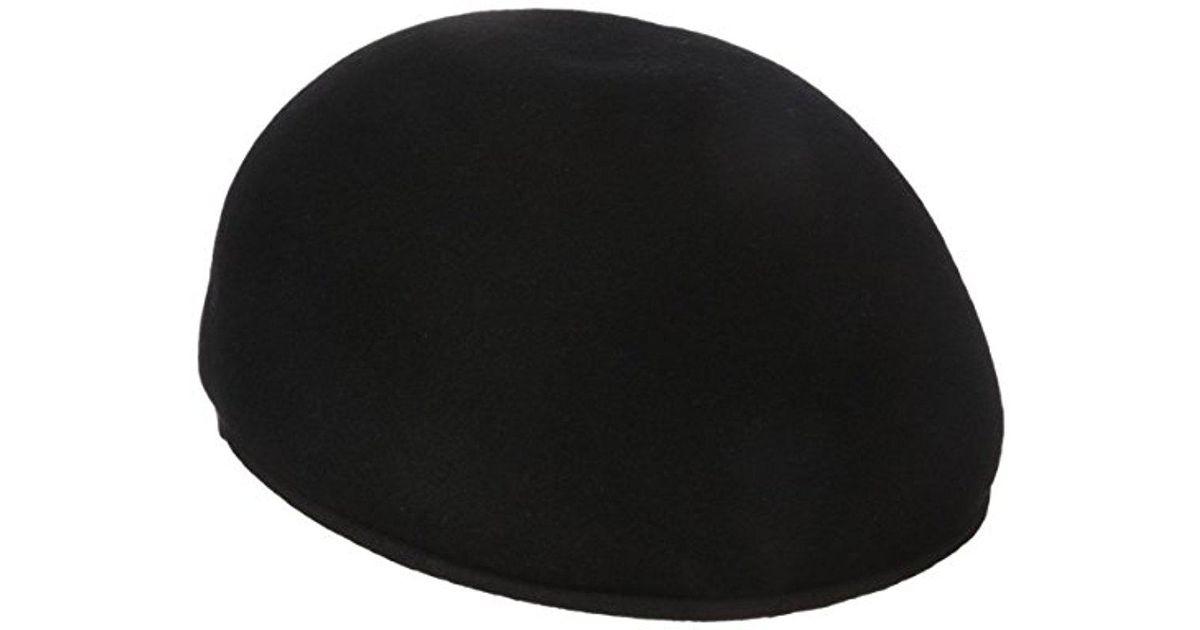 17e2de6a47f Lyst - Dockers Molded Melton Wool Ivy Newsboy Cap in Black for Men