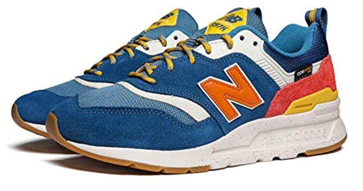 new balance 997h blue with varsity orange