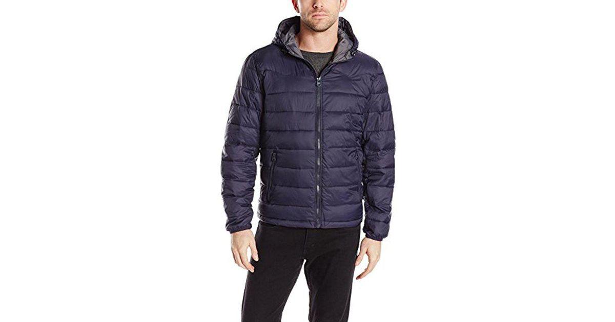 9b8e41433937 Lightweight Men In Nylon Jacket For Blue Lyst Puffer Levi's Hooded vxzBw6qE