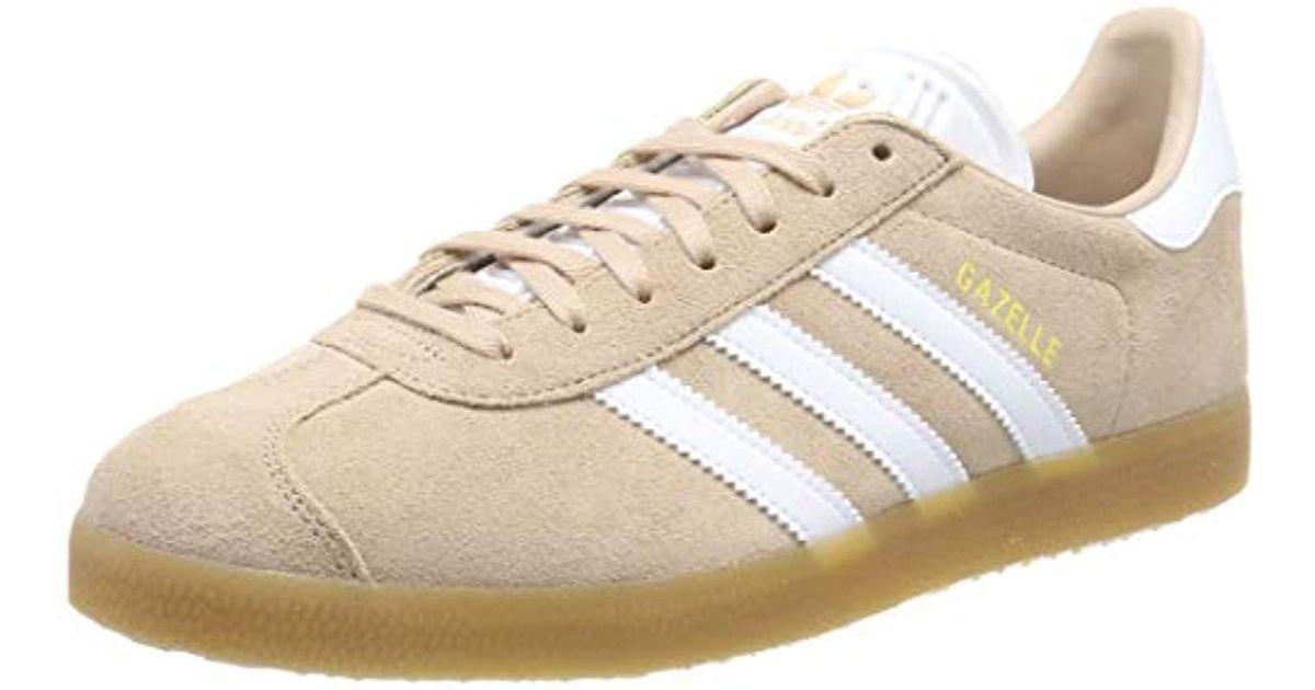 Adidas Gazelle, Gymnastics Shoes, White (ash Pearl S18ftwr Whitegum 3), 6 Uk for men