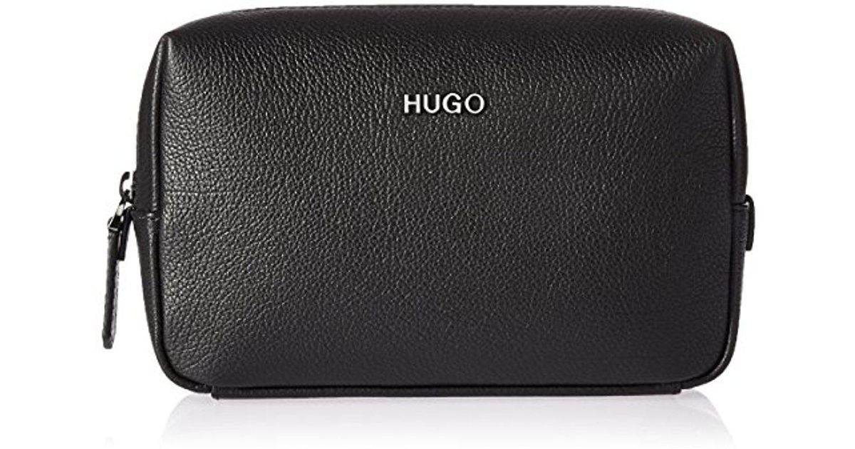 82249cde68 Lyst - Boss Hugo By Twin Leather Washbag in Black for Men