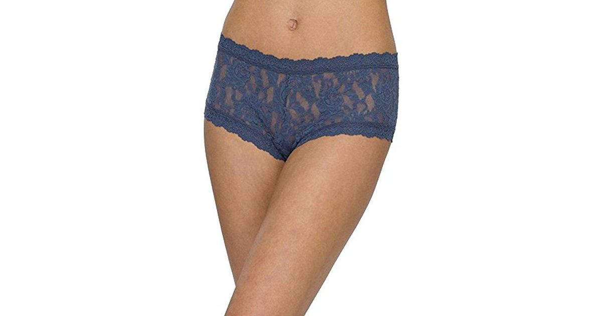 ea16bd45407 Lyst - Hanky Panky Signature Lace Boyshort Panty in Blue