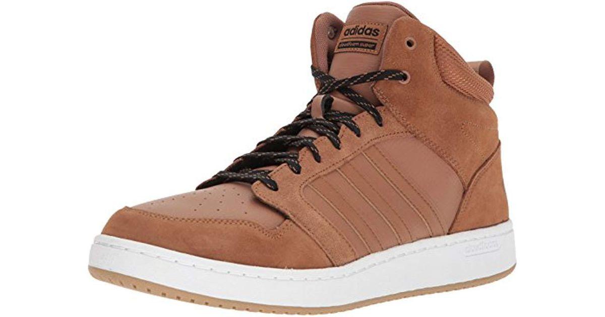 a15fb77671a7e Adidas Brown Cloudfoam Super Hoops Mid Basketball Shoe for men