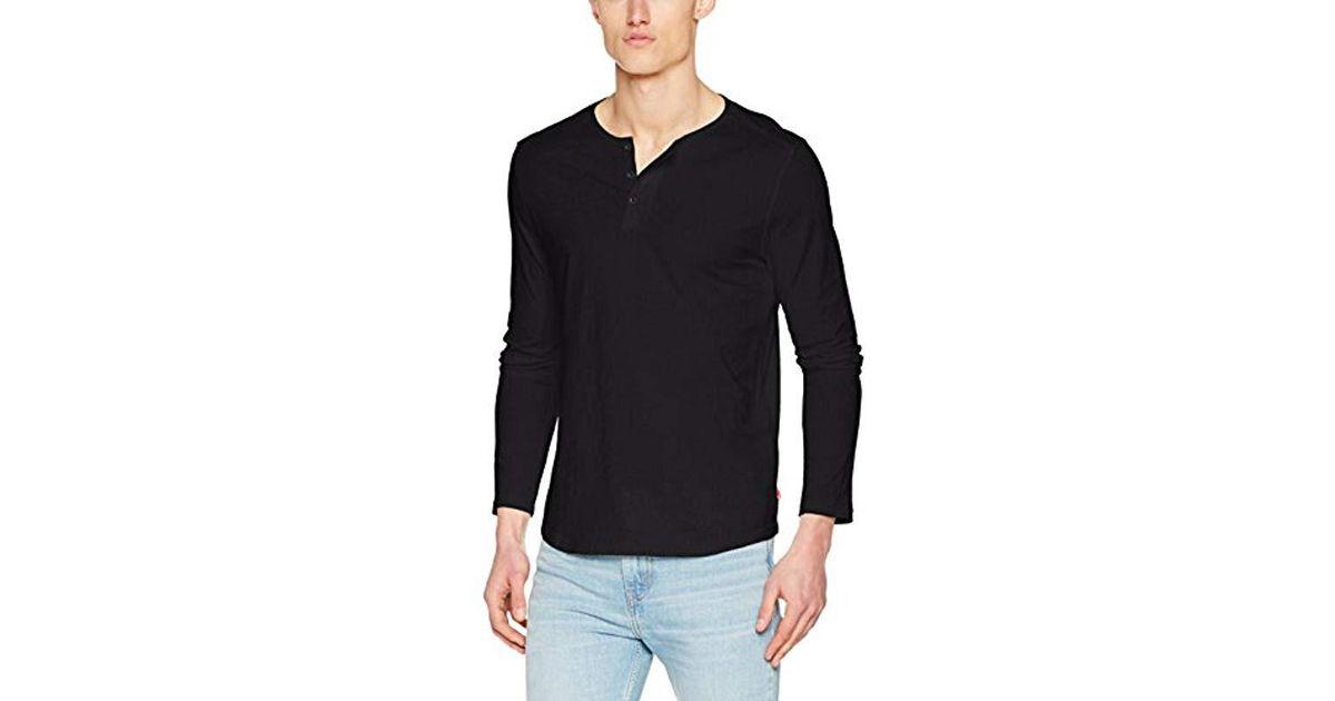 f9492d914b7a0 Levi S Ls Classic Henley T-shirt in Black for Men - Lyst