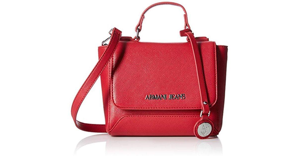 Lyst - Armani Jeans Eco Leather Mini Crossbody Bag in Red 2ba93f727602f