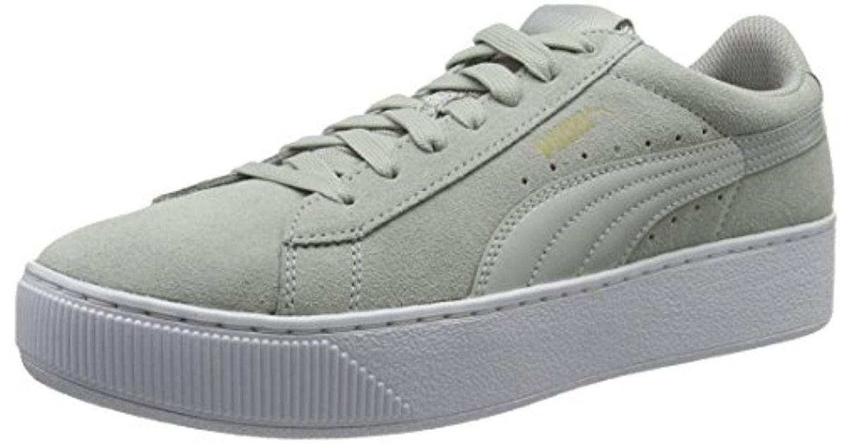 guarda bene le scarpe in vendita diventa nuovo 2019 prezzo all'ingrosso PUMA Suede Vikky Platform Low-top Sneakers in Grey (Gray Violet ...