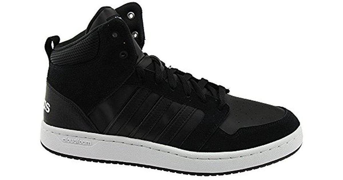 f04406d156716 Adidas - Cloudfoam Super Hoops Mid Core Black/core Black/crystal White  Athletic Shoe for Men - Lyst