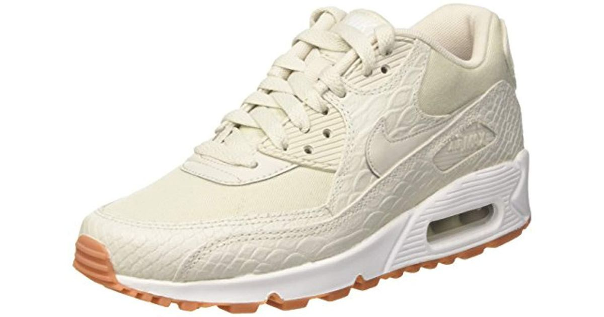 new products 83128 d4640 Nike Wmns Max 90 Prm Sneakers in Natural - Lyst