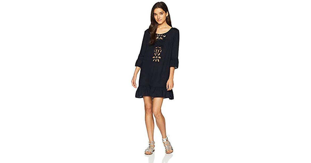 cd7296be5c Roxy Goldy Soul Long Sleeve Coverup Dress in Black - Save 40% - Lyst