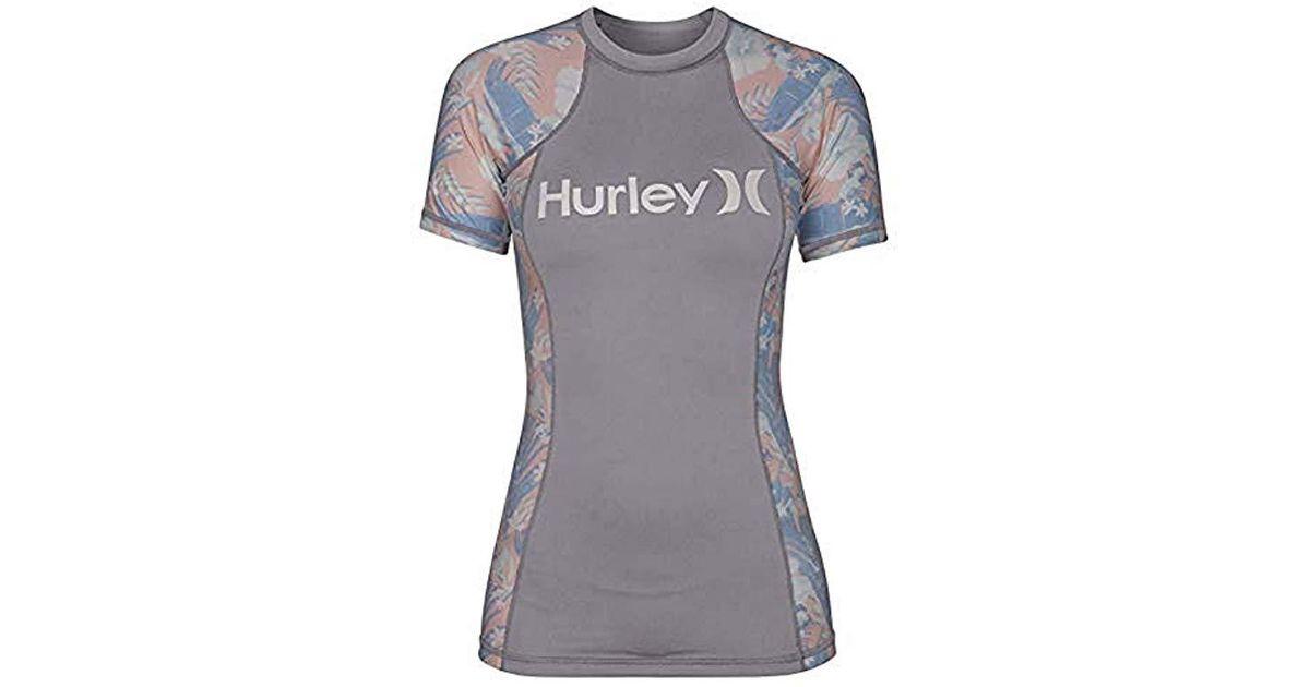 Hurley Womens Sun Shirt Rashguard SPF 50 Protection