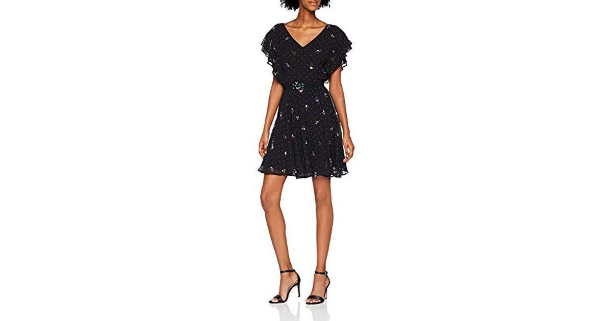 size 40 a368e b2b4e Guess Black Abito Pepita Dress