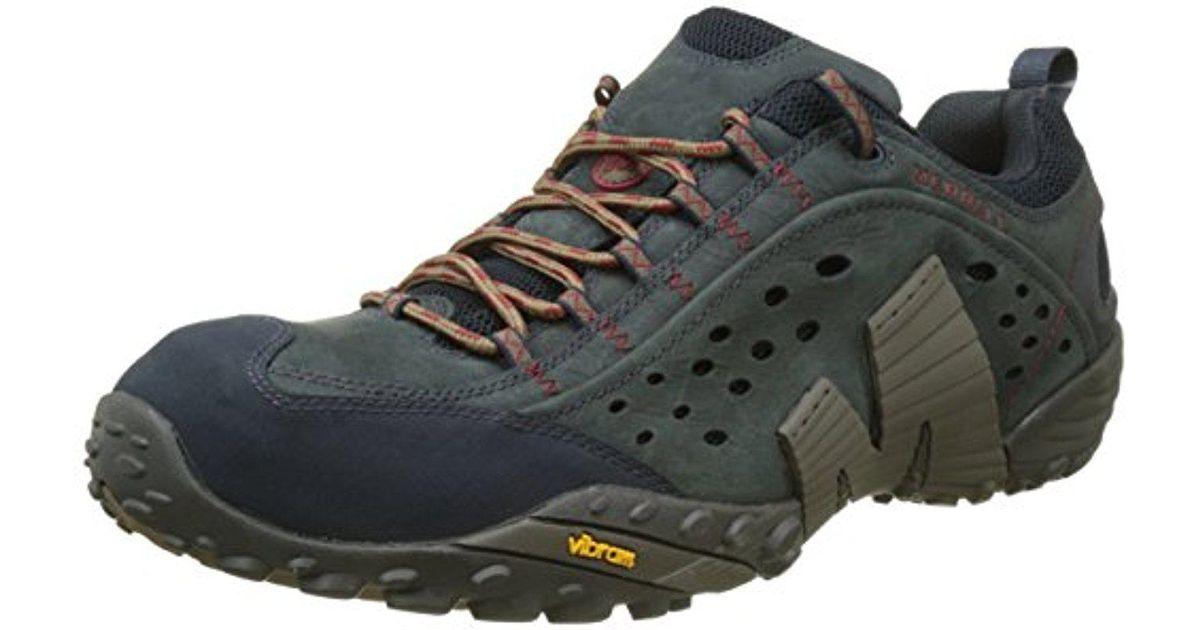 8c76bd0f Merrell Blue Intercept Shoe Adult for men