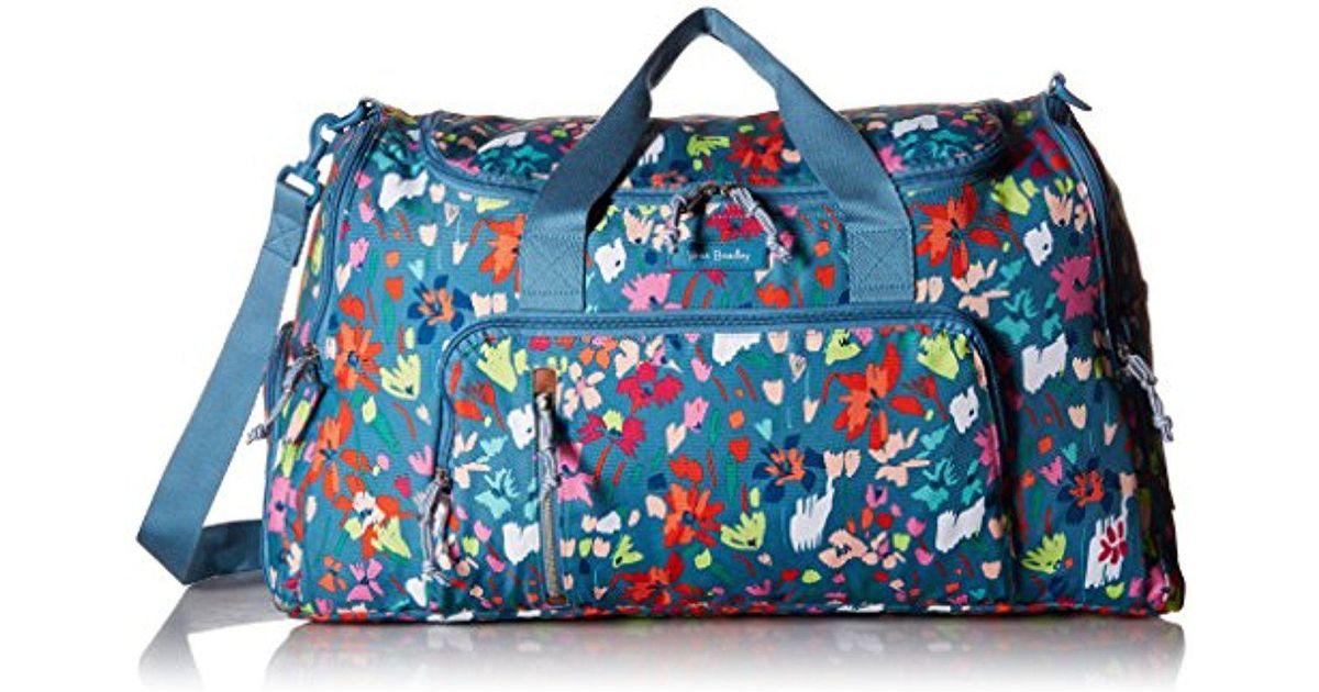 Lyst Vera Bradley Lighten Up Ultimate Gym Bag Polyester In Blue Save 39 130434782608695