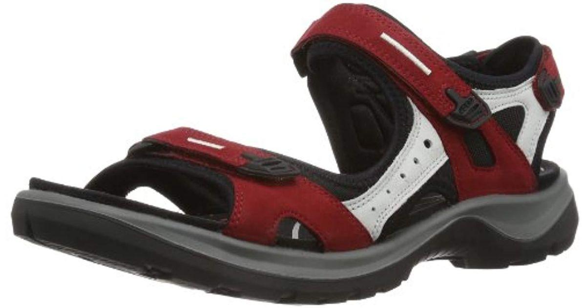 huge discount 70a99 e23bf Ecco Schuhe Damen Sandalen Trekkingsandalen Offroad Rot Chili Red  06956355287