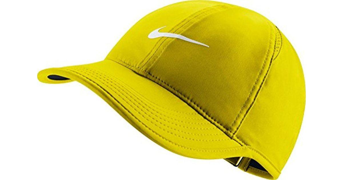 49c1bb12c Nike Yellow Court Aerobill Featherlight Tennis Cap for men