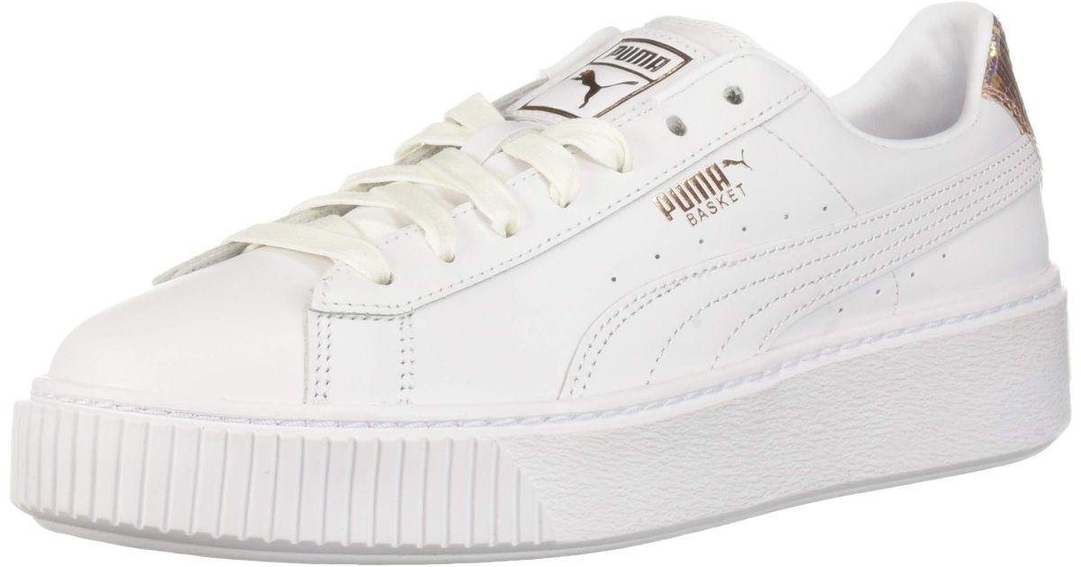 PUMA Basket Platform Rg ( White/rose